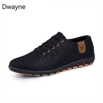 Dwayne Xuân Nam Mùa Hè Thoáng Khí Nam Đơn Giản Thoải Fashio Thấp cột dây Giày Đế Bằng Zapatillas Hombre plus Kích Thước 47