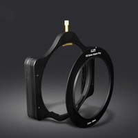 Full Metal Aluminum 100mm Filter Holder + Slim Adapter Ring 52/55/58/62/67/72/77/82mm for Lee Hitech Haida Cokin 4X4/5 Filters