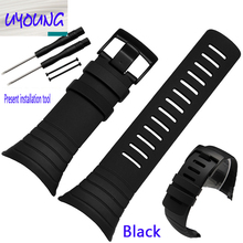 UYONG SUUNTO CORE extension to watch strap core function silicone watch strap watch with outdoor accessories
