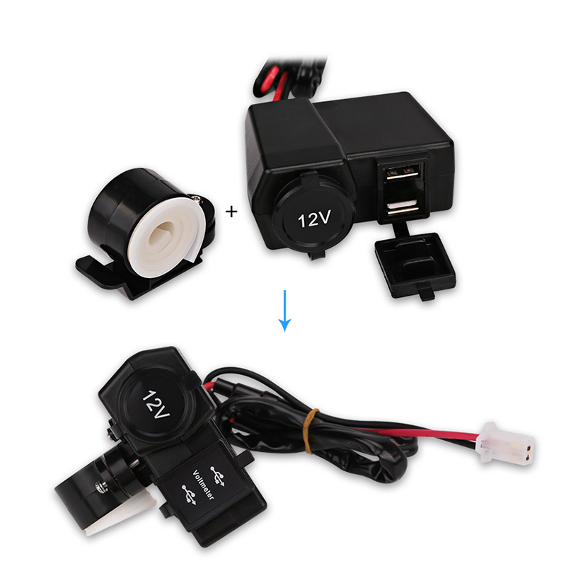 Мотор мотоциклет двойно USB зарядно - Автомобилна електроника - Снимка 6