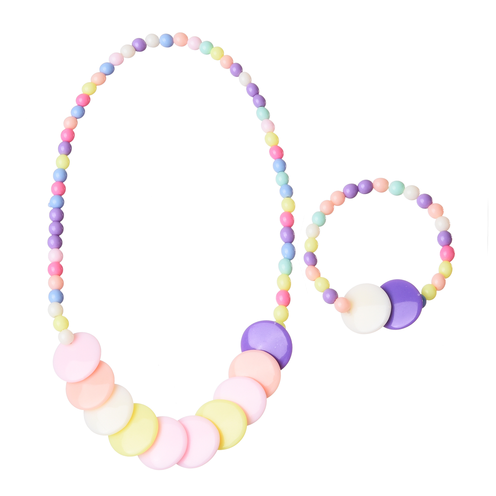 Princess coloring set - Obsede Lovely Baby Girl Princess Candy Color Beads Chunky Bubble Necklace Bracelet Children Kids Jewelry Sets