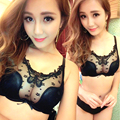 2017 Hot Sale Luxury 1/2 Cup Brand Sexy Plus Size Intimates Push Up Bra Set Underwear Floral Embroidery Lace Women Bra Panty BH