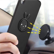 Phone Bracket Universal 360 Degree Rotatable Bunny Finger Ring Holder Mobile Phone Grip Metal Mount Car Phone Stand For iPhone X free shipping universal metal white wall mount stand bracket for cctv security camera