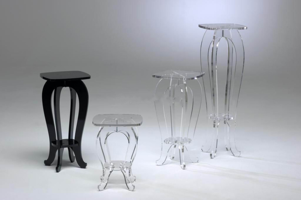 High Transparency Acrylic lucite display pedestals tables-3 size options все цены
