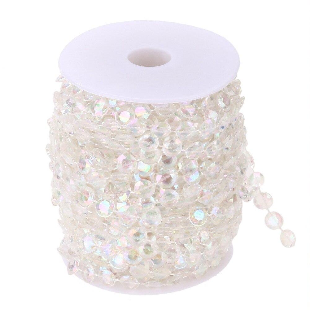 99FT garland dimanta akrila kristāla aizkars akrila kristāla lodītes aizkars kāzu DIY puse dekoru kristāla aizkaru kāzas