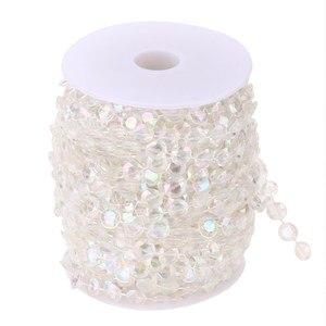 99FT Garland Diamond Acrylic Crystal Curtain Acrylic Crystal Bead Curtain Wedding DIY Party Decor Crystal Curtain Wedding