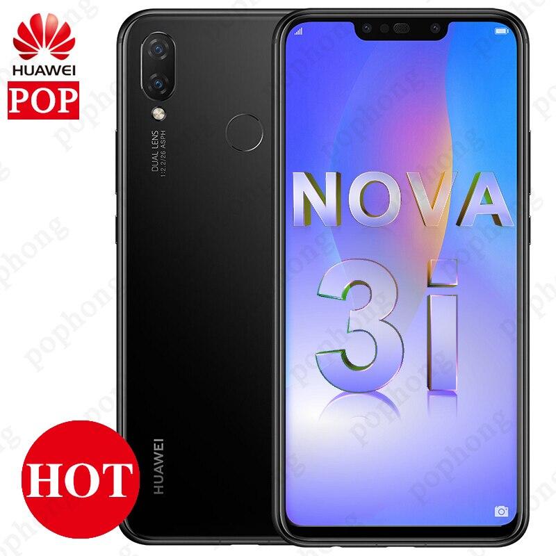 Global Firmware Huawei Nova 3i 4GB 128GB Mobile phone 6 3 inch Kirin 710 Octa Core