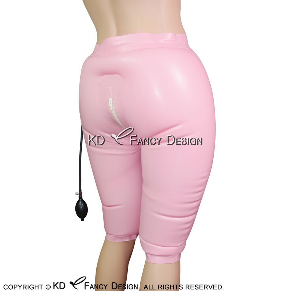 aab04623c38 קנו גברים ' s תחתונים   Black Inflatable Sexy Latex Long Leg Boxer ...