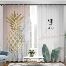 High grade Kids Curtains Girl Living Room Bedroom Simple Style Pineapple Curtain Pink Color Fashion Design цены