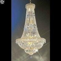 Люстры современный кристалл лампы золото ручной работы из металла освещение лампы небольшой империи люстра d70cm x h135cm