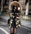 Moda mujer chaqueta de invierno 2016 nuevos llegan chaqueta de camuflaje de invierno de las mujeres abrigo de invierno nagymaros mujeres abrigo HB1355