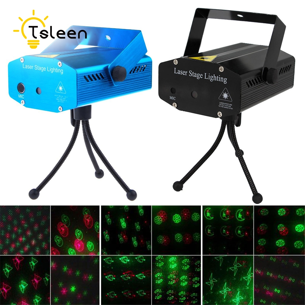 Cheap 10 patterns dynamicly DJ Disco Bar House professional disco lights Sound Control LED Laser Projector equipments CE ROHS