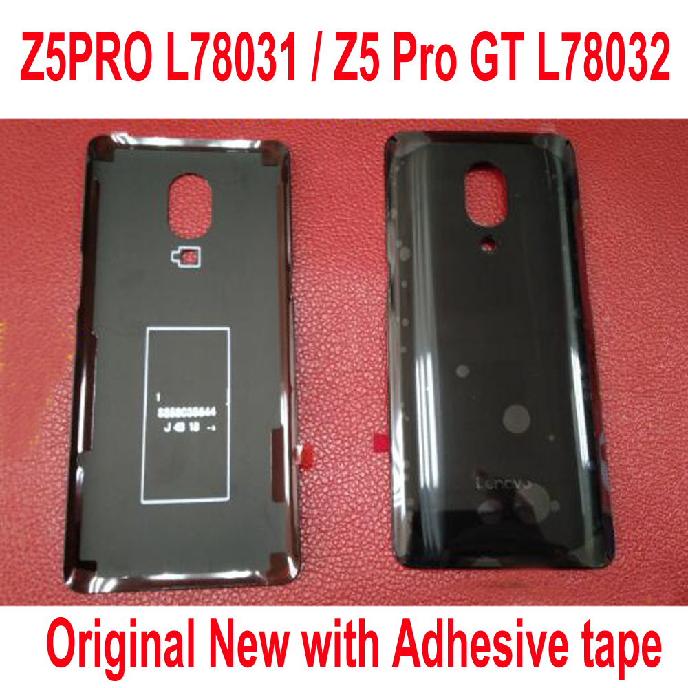 Original New Best Battery Back Cover Housing Rear Door Case With Adhesive Tape For Lenovo Z5PRO L78031 Z5 Pro GT L78032 Black