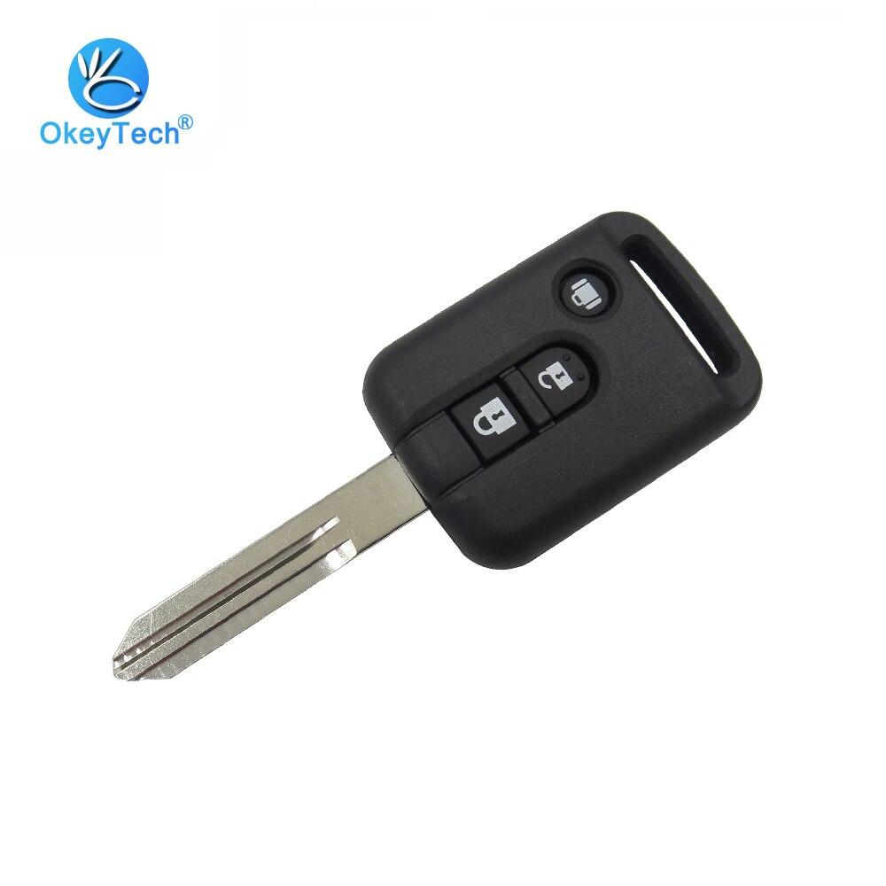 OkeyTech 3 Button Car Key Shell For Nissan Transponder Remote Key Fob Cover Case For Nissan Micra Navara Note X-Trail Qashqai