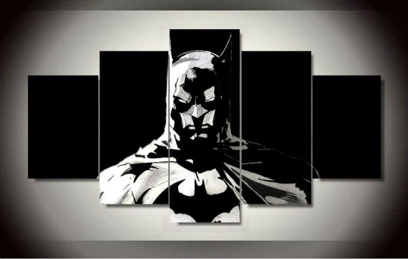 2017 Лидер продаж Картины 5 шт./компл. Бэтмен живопись на холсте номер Украшение печать рисунка настенные Книги по искусству для жизни Декор (б...