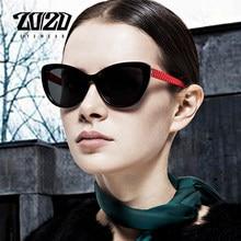 Óculos de sol feminino polarizado olho de gato, óculos de sol estilo retrô 20/20