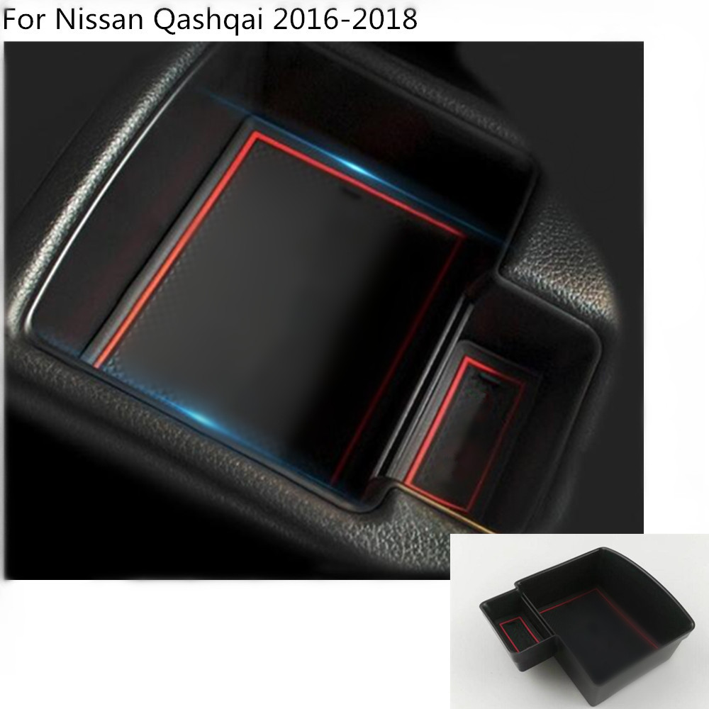 Car Storage trim Container Center Console Cup Holder gear box frame armrest 1pcs For Nissan Qashqai 2016 2017 2018 car styling 1pcs center console armrest storage box elbow supporting armrest for nissan qashqai sunny tiida livina