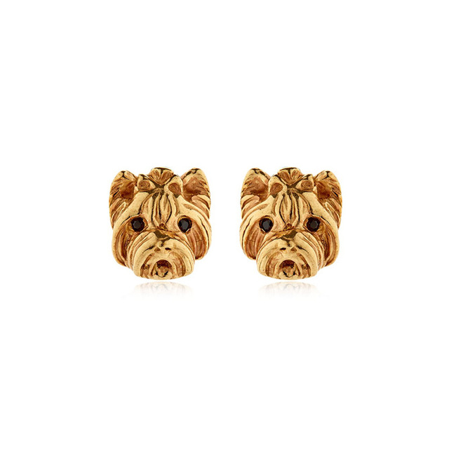 Handmade Yorkshire Dog Animal Pug French Bulldog Earrings New Creative Studs Fashion Everyday Bijoux For