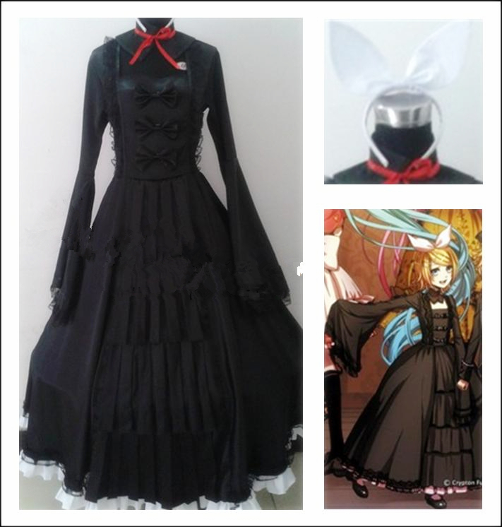 Anime VOCALOID Bad End Night Rin Cosplay Costume Full set Any size