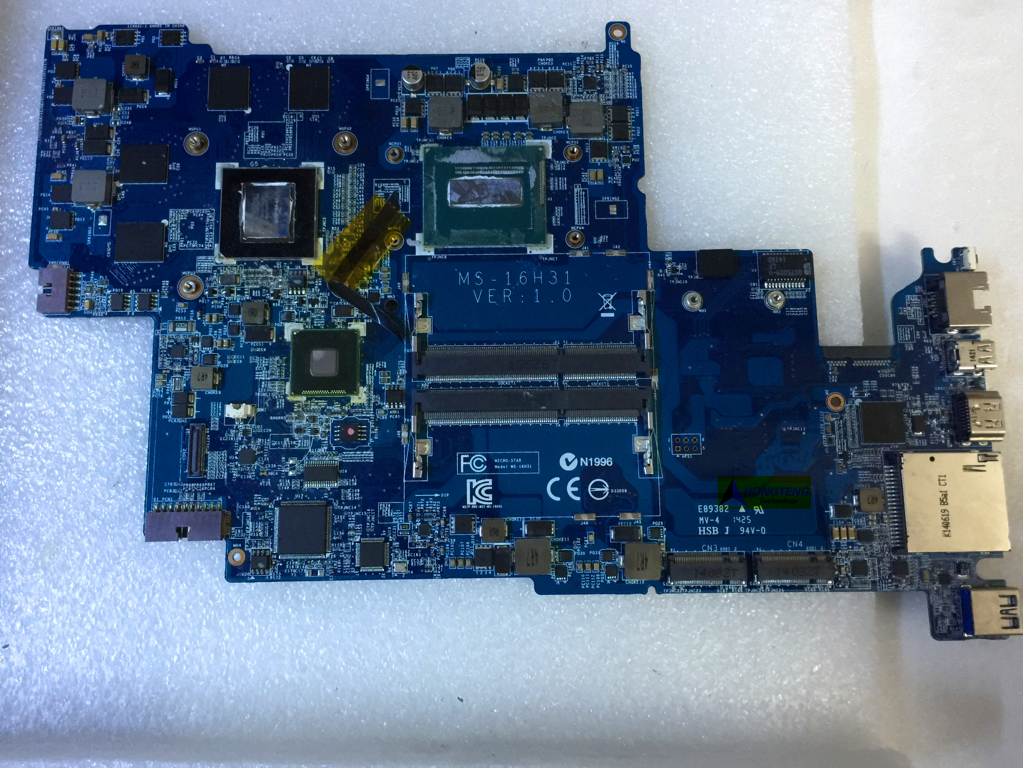 genuine MS-16H31 MS-16H3 FOR MSI WS60 LAPTOP MOTHERBOARD WITH I5 CPU AND QUADRO K2100m Test OK image