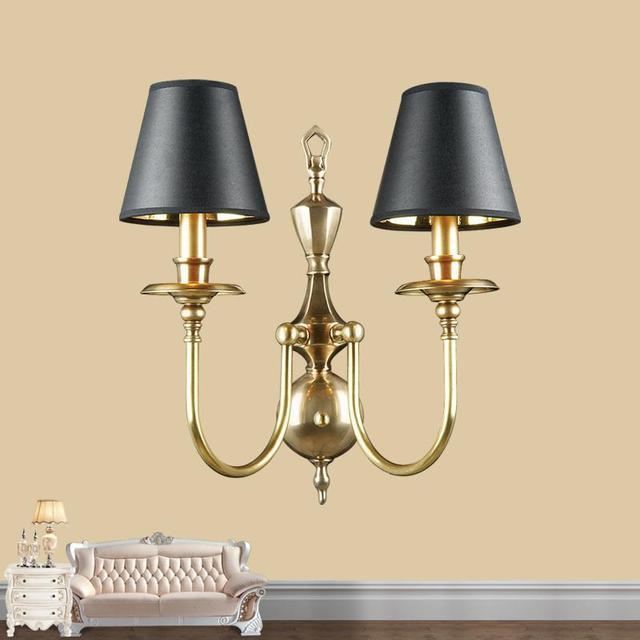 Hotel Large Art Deco Wall Sconce With Lamp Shade Living Room Restaurant  Makeup Wall Lamp Copper