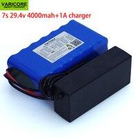 Batería de iones de litio de 24V, 4Ah, 7s, 6s, 2P, 18650, 29,4 v, 4000mAh, bicicleta eléctrica, ciclomotor, batería de iones de litio + cargador