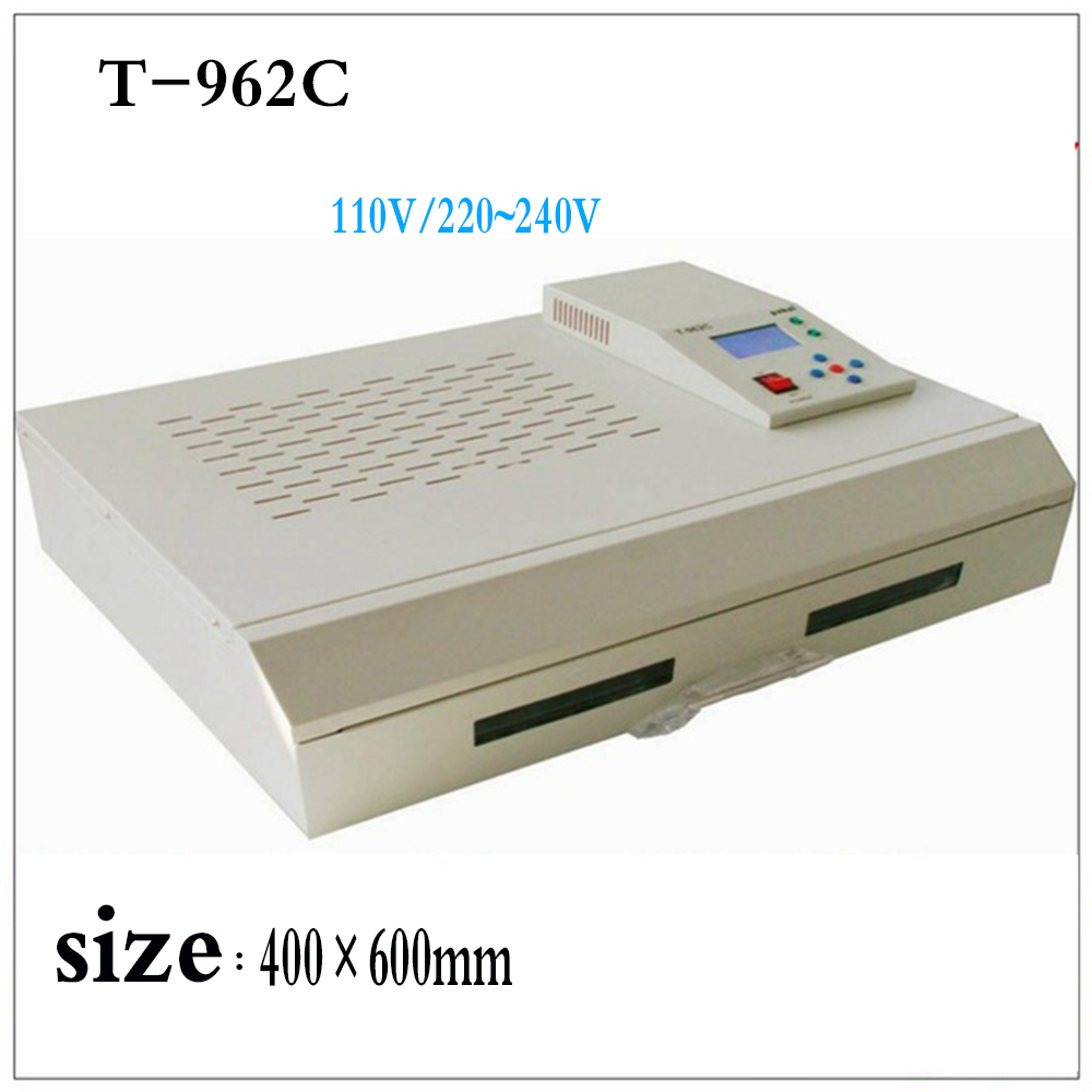 цена на free delivery T-962C Infrared IC Heater T962C Reflow Oven BGA SMD SMT Rework Sation T 962C Reflow Wave Oven