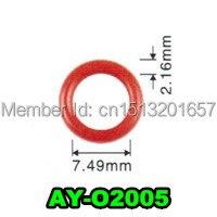 Оптовая 100 шт топливная форсунка orings для Mazda 7.49 ID * CS 2.16 мм viton уплотнительное кольцо уплотнения (AY-O2005)