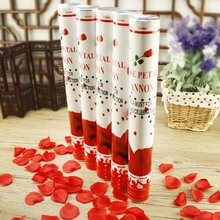 1pcs rose confetti poppers fireworks salute happy marriage wedding fireworks tube confetti wedding birthday party supplies
