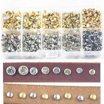 100boxes 240sets 4 Size Punk Diamond Spikes Rivets/Rhinestone Studs  Double-sided Rivet for Leather/Belt/Handbag DIY Accessories - DISCOUNT ITEM  0% OFF All Category