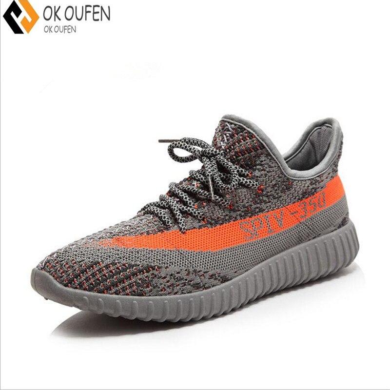 OKOUFEN Haute Qualité Hommes Respirant Casual Chaussures de maille amateurs de chaussures marque Femme Chaussure Ultras Stimule Superstar Chaussures 36-46