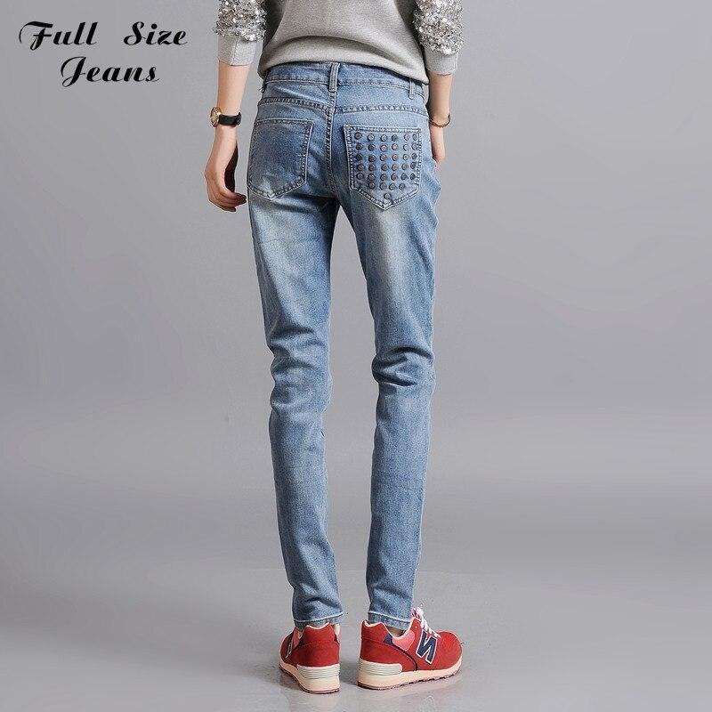 ФОТО Girlfriend Distressed Skinny Harem Jean Denim Pencil Pants Plus Size Baggy True Trousers With Rivet 6Xl Xs 4Xl Design Denim ZZ