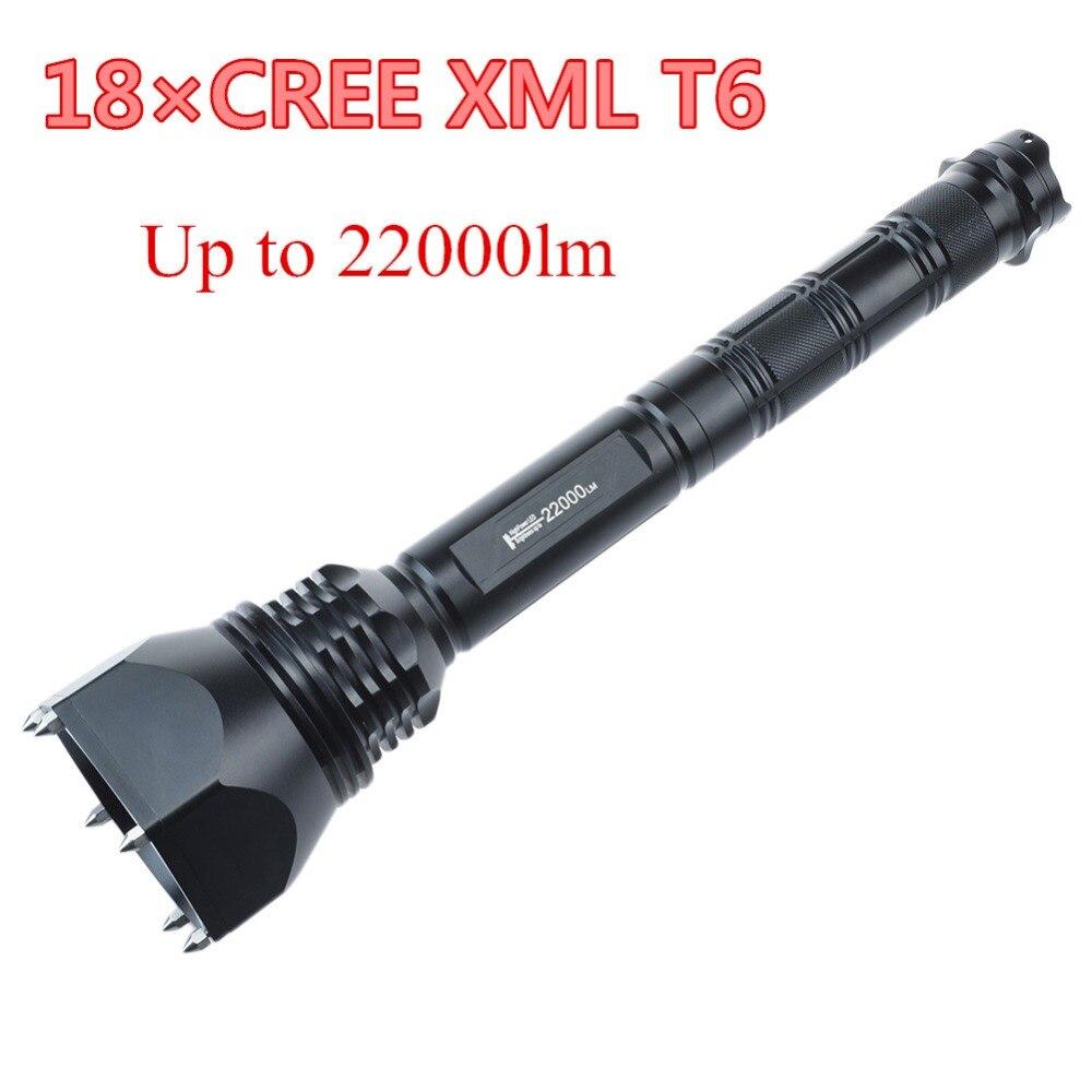 CrazyFire 18x CREE XM-L2 T6 Flashlight 22000 Lumens LED Flash Light Lantern 5-mode Torch By 2/4*26650 / 4*18650 3800 lumens cree xm l t6 5 modes led tactical flashlight torch waterproof lamp torch hunting flash light lantern for camping z93