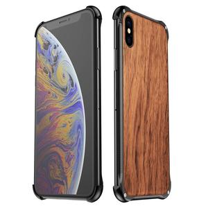 Image 2 - For iPhone XS Max XR iPhone X XS Case Cover Hybrid Wood Metal Frame Bumper Back Case Cover for iPhone 6 6S 7 8 Plus
