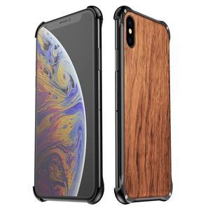 Image 2 - Iphone xs最大xr iphone x xsケースカバーハイブリッドウッド金属フレームバンパーバックケースカバーiphone 6 6s 7 8 プラス