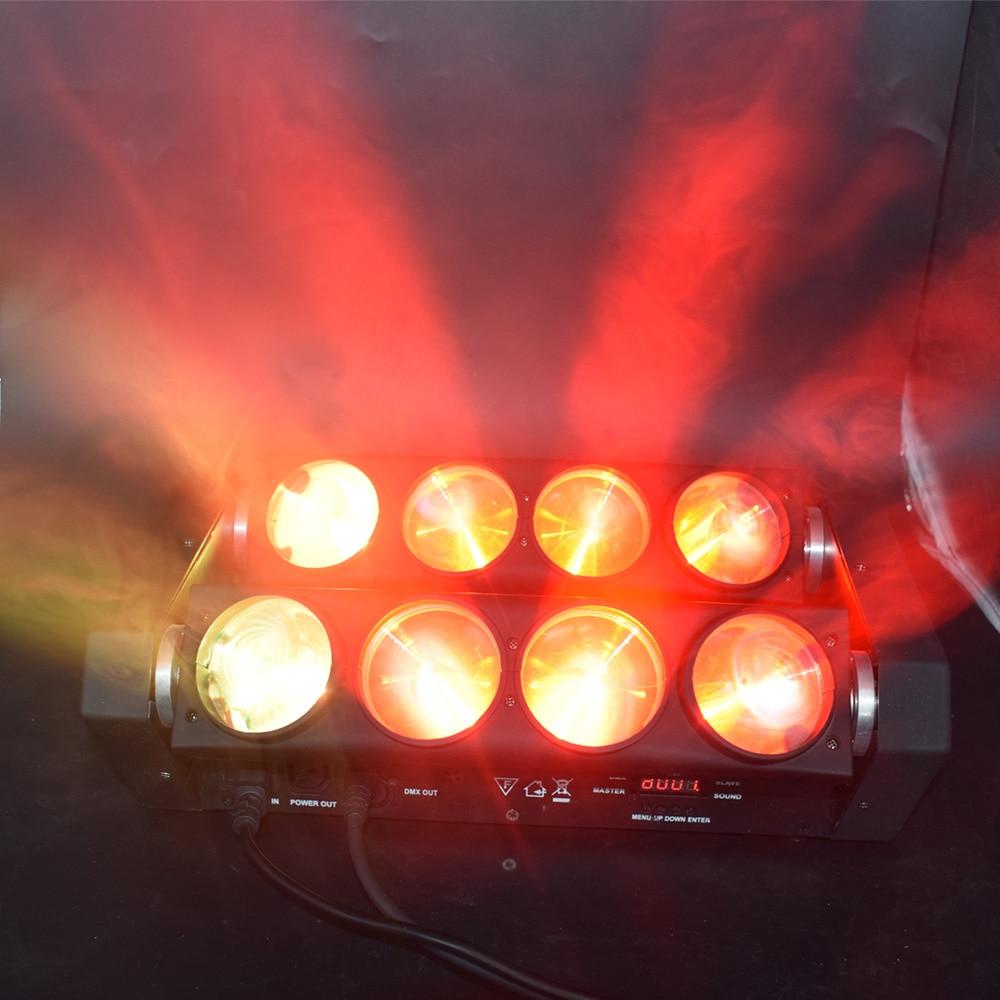 8x12w rotatif LED orientable effet de scène lampe araignée lumière de faisceau de scène pour Disco - 4