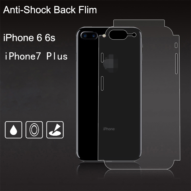 For iPhone 6 6s 7 Full screen coverage HD Clear Screen Protectors Back Cover Transparent Full cover Anti shock protective film