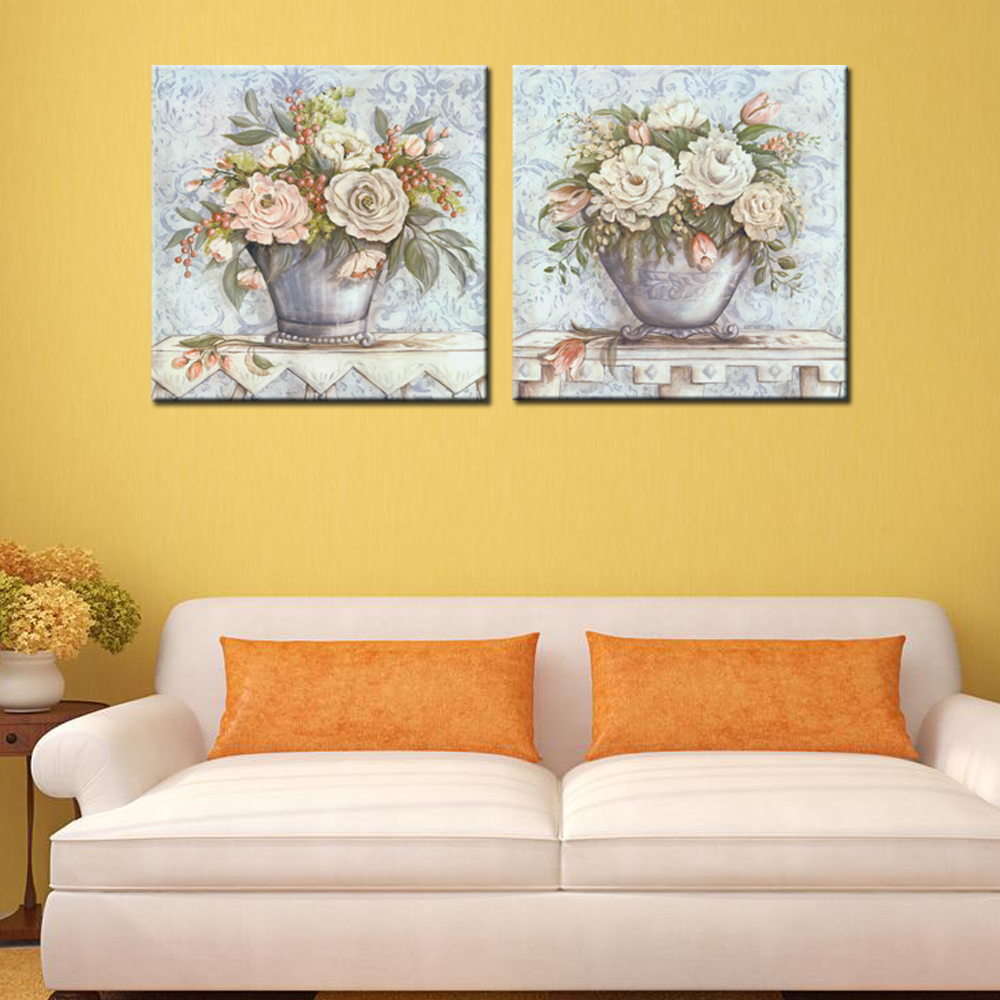 ④Oil Painting Pictures on the Wall Sitting Room(No Frame) 2pcs ...