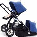 Babysing paisaje de alta cochecito de bebé lindo techo cuatro ruedas cochecitos cochecito y silla de paseo plegable portátil impbaby i2