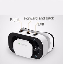 2017 Hot Shinecon VR Virtual Reality 3D SC-G05A Glasses Helmet Google Cardboard for iPhone Samsung 4.7 ~ 6 inch Smartphone