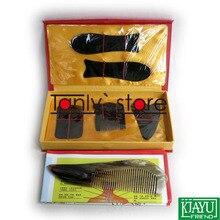 100% buffalo horn! Traditional Acupuncture Massager tool gift box Gua Sha beauty kit 5pcs/set  +1pcs guasha chart big comb