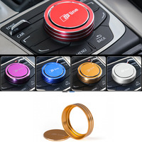 Car Accessories Sline IDrive Cover Multimedia Buttons Decorative Cover Emblem Stickers For Audi A4 A5 A6