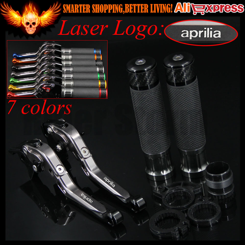 7 Colors CNC Adjustable Motorcycle Brake Clutch Levers&Handlebar Hand Grips For Aprilia RSV MILLE / R 2004 2005 2006 2007 2008 for aprilia rsv 1000 mille 2004 2007 cnc aluminum front