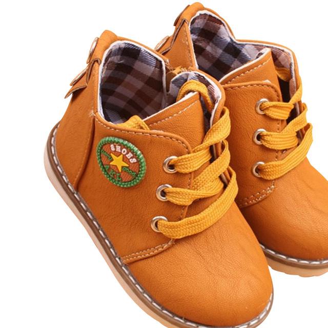 2017 nueva llegada de la manera niños shoes martin botas primavera otoño invierno niños niñas shoes niños botines 3 colores