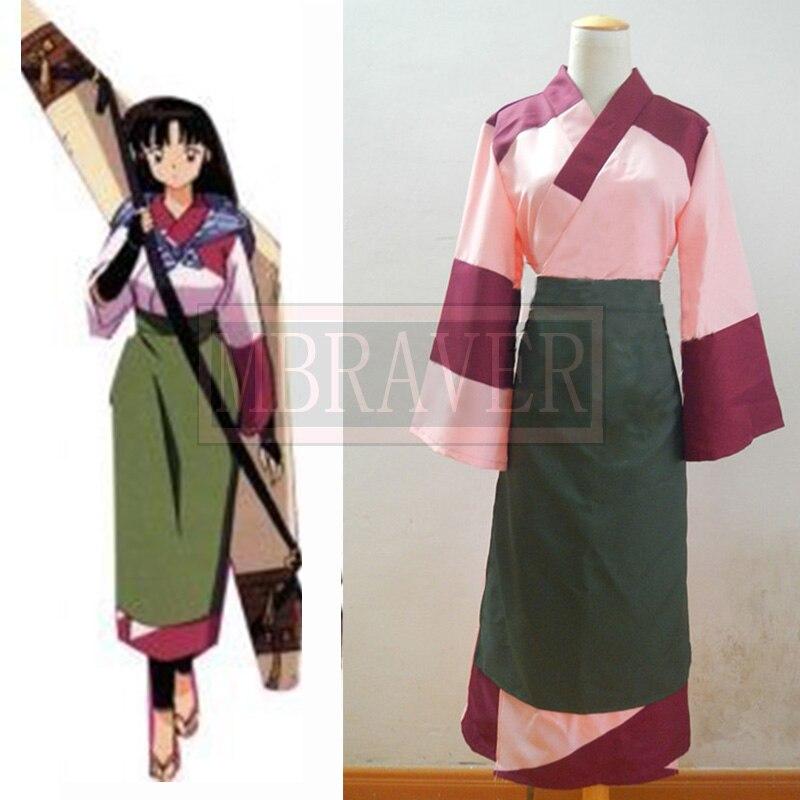 Japanese Anime Outfit Inuyasha Sango Cosplay Costume