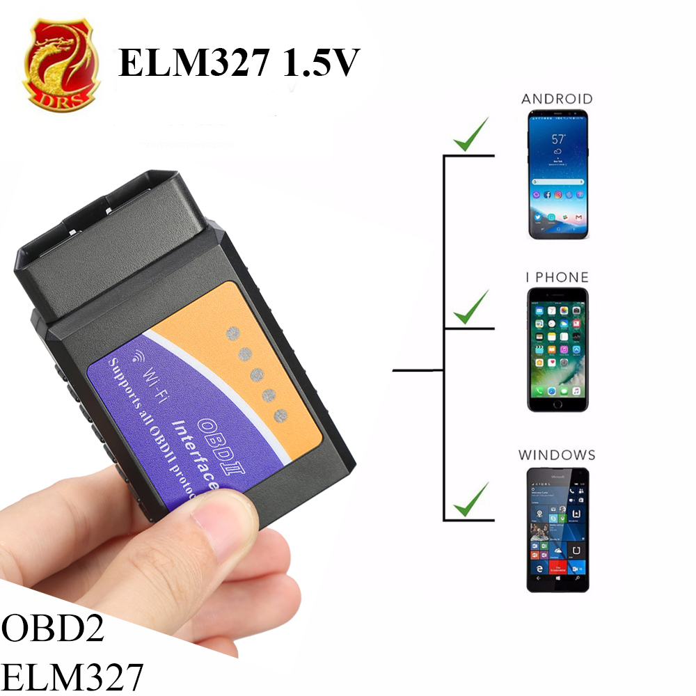 Pic18f25k80 ELM327 V1.5 Wifi Bluetooth OBD2 OBDII herramienta de diagnóstico como for launch escáner coche culpa de lector de código para Android IOS