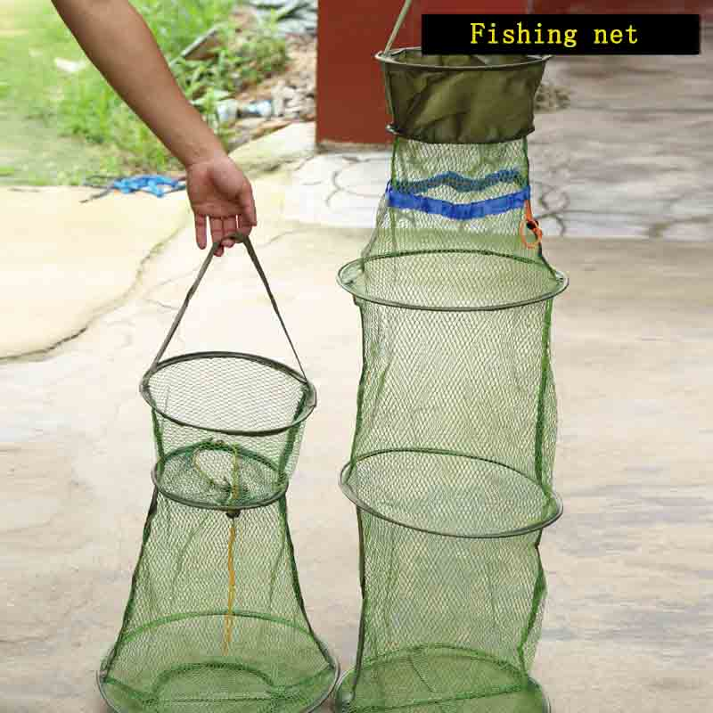 Fishing Accessories Antihook Anti-jump Fishing Net Quick-drying Portable Folding Fish Guard Big Belly Fish Shrimp Crab Fish Bait Free Shipping Sale Relieving Rheumatism