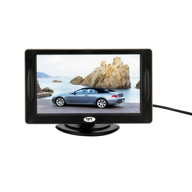 """New  4.3"""" Color TFT LCD Rearview Car Monitors for DVD GPS Reverse Backup Camera Vehicle driving accessories hot selling"""
