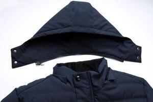 Image 5 - Erkek Kış Kalın Polar Aşağı Ceket Yeni 2018 Kapşonlu Palto Rahat Kalın Aşağı Parka Erkek Ince Rahat Pamuk yastıklı Mont XL 4XL