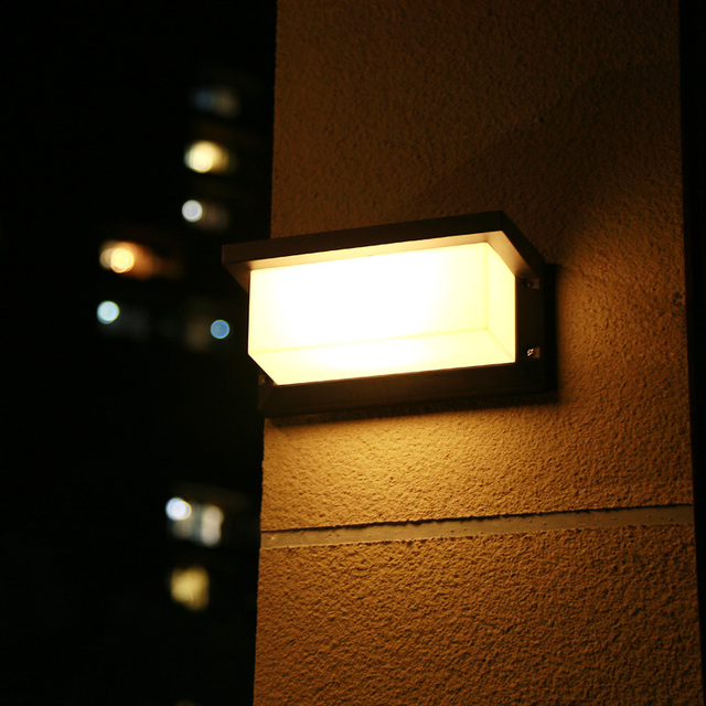 Rechteck Wasserdichte Outdoor Wand Lampe Led Aluminium Legierung